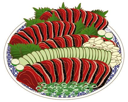 Skipjack tuna dish bakery