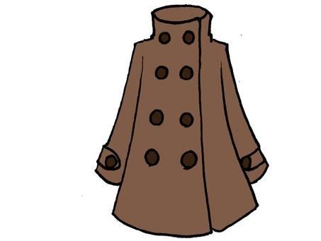 A line coat a brown