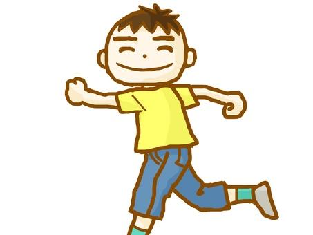 A boy who runs.