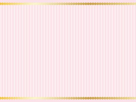 Gold Round Frame / Pink