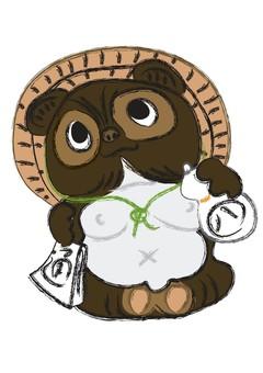 Shinbaki illustrations of raccoon dumplings