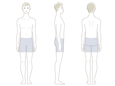 Male_ line drawing _ whole body