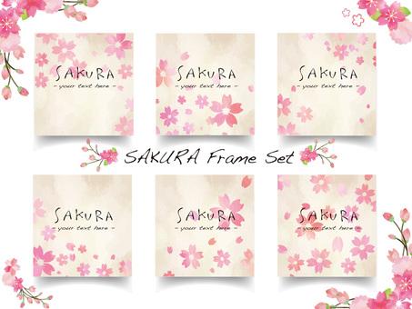 Cherry blossom frame set ver23