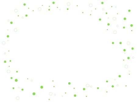 원형 프레임 (연두색)