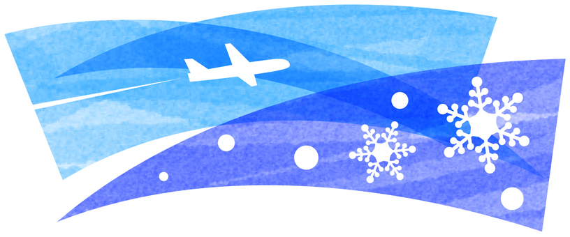 Winter airplane image