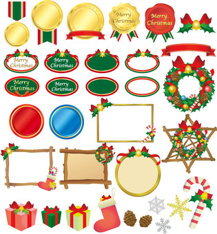 Christmas labels and goods sets