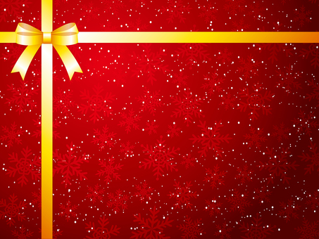 Snow crystal and ribbon background material