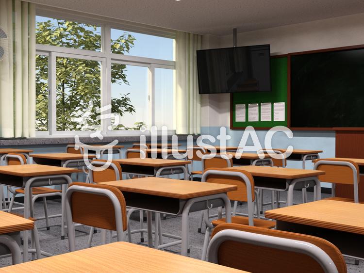 教室の風景のイラスト