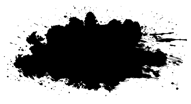 Ellipse calligraphy brush illustration