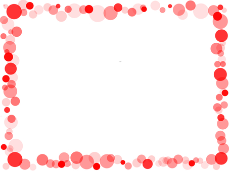 Bubble frame red