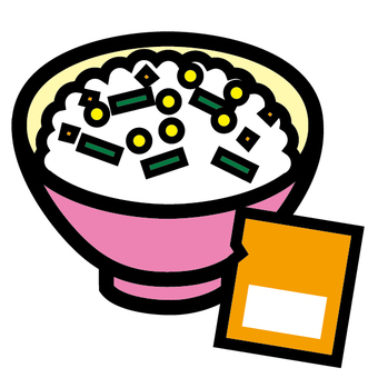Sprinkle rice Icon Japanese food rice