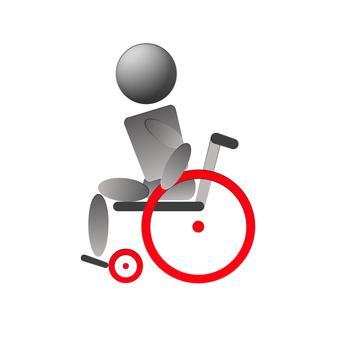 Wheelchair self-propelled side medium speed