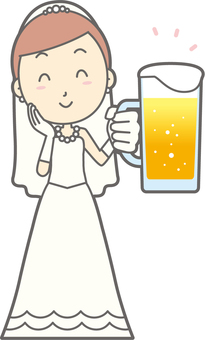 Bride dress - Beer smile - whole body