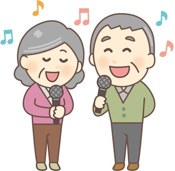 Karaoke _ Elderly people 02
