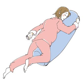 편안한 자세로 휴식 임신부