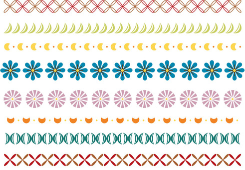 シンプルな飾り罫11 カラー