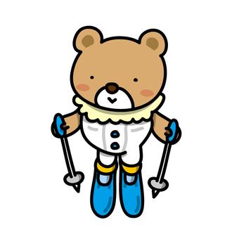 Bear to ski