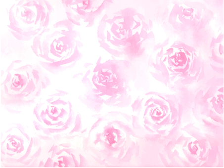 Watercolor rose background texture