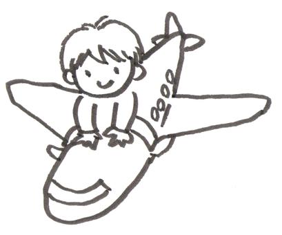 비행기와 소년