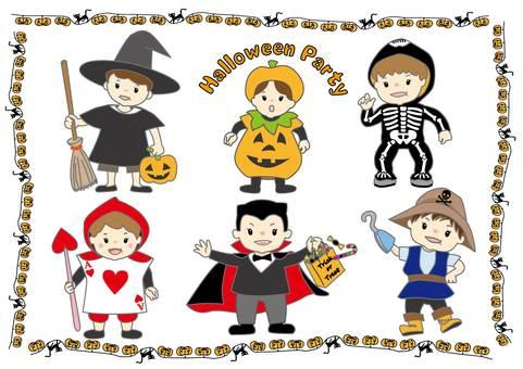Halloween party children