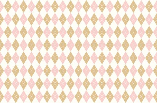 Argyle cute pink & amp; gold