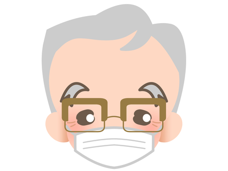 Elderly people with glasses - mask 190211