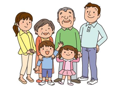 가족 6 명