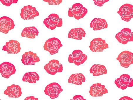 Carnation Wallpaper White