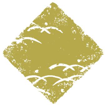 Stamp angle _ lawn deep _ olive _ cs