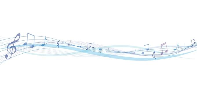 音符の飾り ブルー