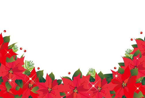 Poinsettia frame 2