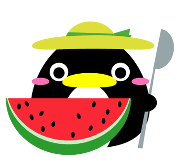 Watermelon and penguin