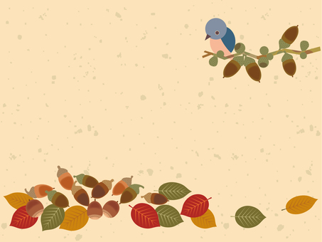 Acorns and birds _ cards