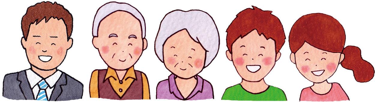 Citizen collaboration (civil servants, elderly people, couple)