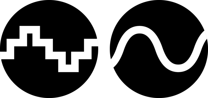Digital analog icon symbol