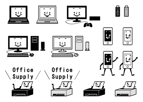 Personal computer / peripheral equipment (monochrome)