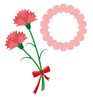 Carnation mothers day with card