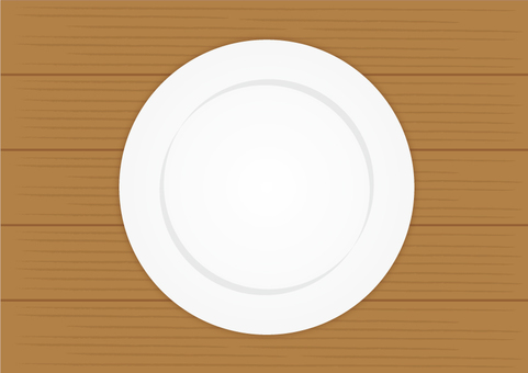 Wooden table and dish