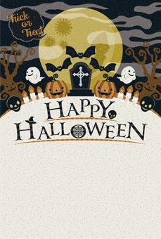 Halloween monster greeting card