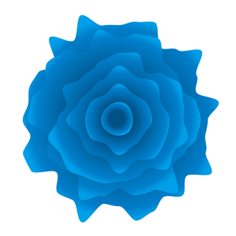 Jagged realistic blue rose icon material