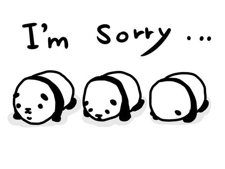 Pandas apologizing (English)