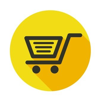 Flat icon - Shopping cart