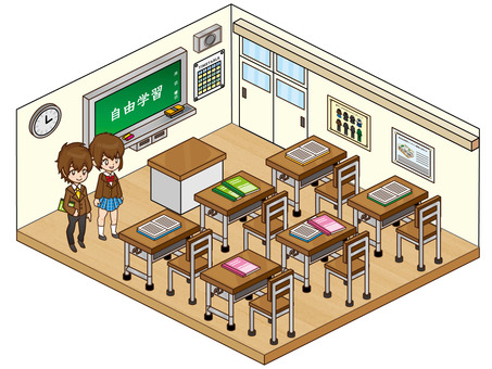 Classroom and students