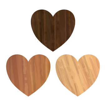 Heart fashionable wood grain material cute pattern
