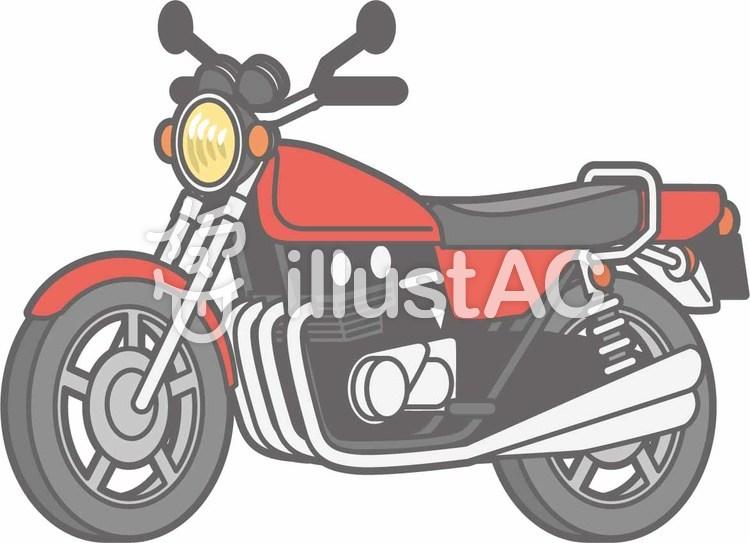バイク-オートバイ単品-全身のイラスト