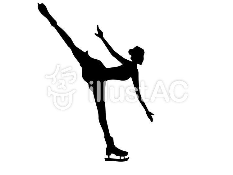 フィギュアスケートシルエットイラスト No 924690無料イラスト