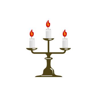 Candlestick illustration