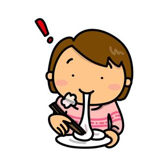 吃年糕的女孩
