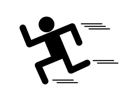 People run silhouette Run away (with wire)