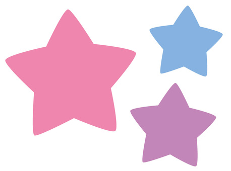 Three stars purple